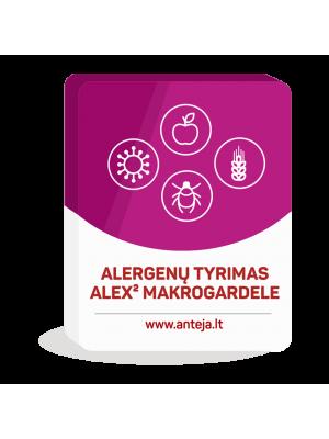 Alex² makrogardelės tyrimas, nustatant specifinius IgE prieš 295 alergenus