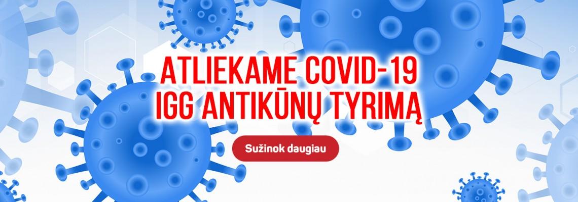 Covid-19 IgG antikūnų tyrimas