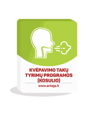 Kvėpavimo takų tyrimų programos (kosulio)
