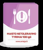 Maisto netoleravimo tyrimas 108 IgG