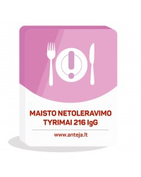 Maisto netoleravimo tyrimas 216 IgG