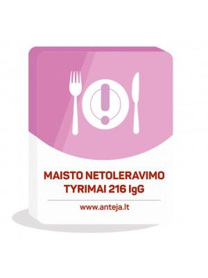 EUROIMMUN Maisto netoleravimo tyrimas 216 IgG