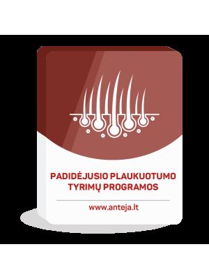 Padidėjusio plaukuotumo priežasčių nustatymo tyrimų programos